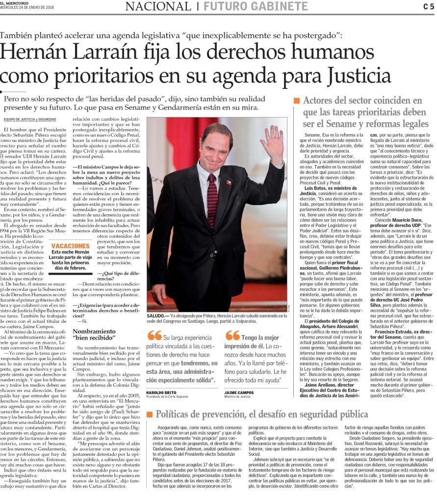 2401 - El Mercurio - Objetivos Hernan Larrain - Mauricio Duce