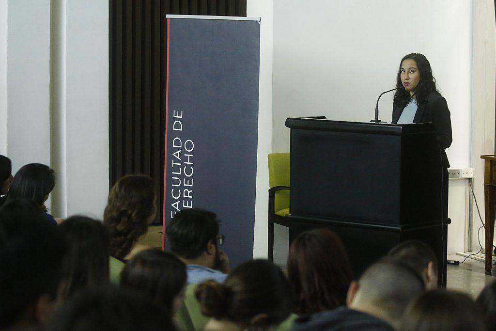 La presidenta del Centro de Alumnos de Derecho UDP, Mónica Bugueño.