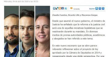 0404 - El Mercurio Legal - Reforma Civil - Claudio Fuentes, Ricardo Lillo y Macarena Vargas