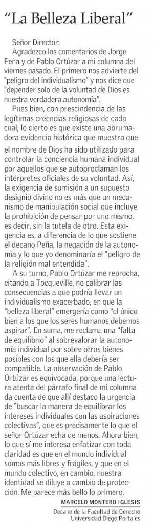 0804 - El Mercurio - La belleza liberal - Marcelo Montero