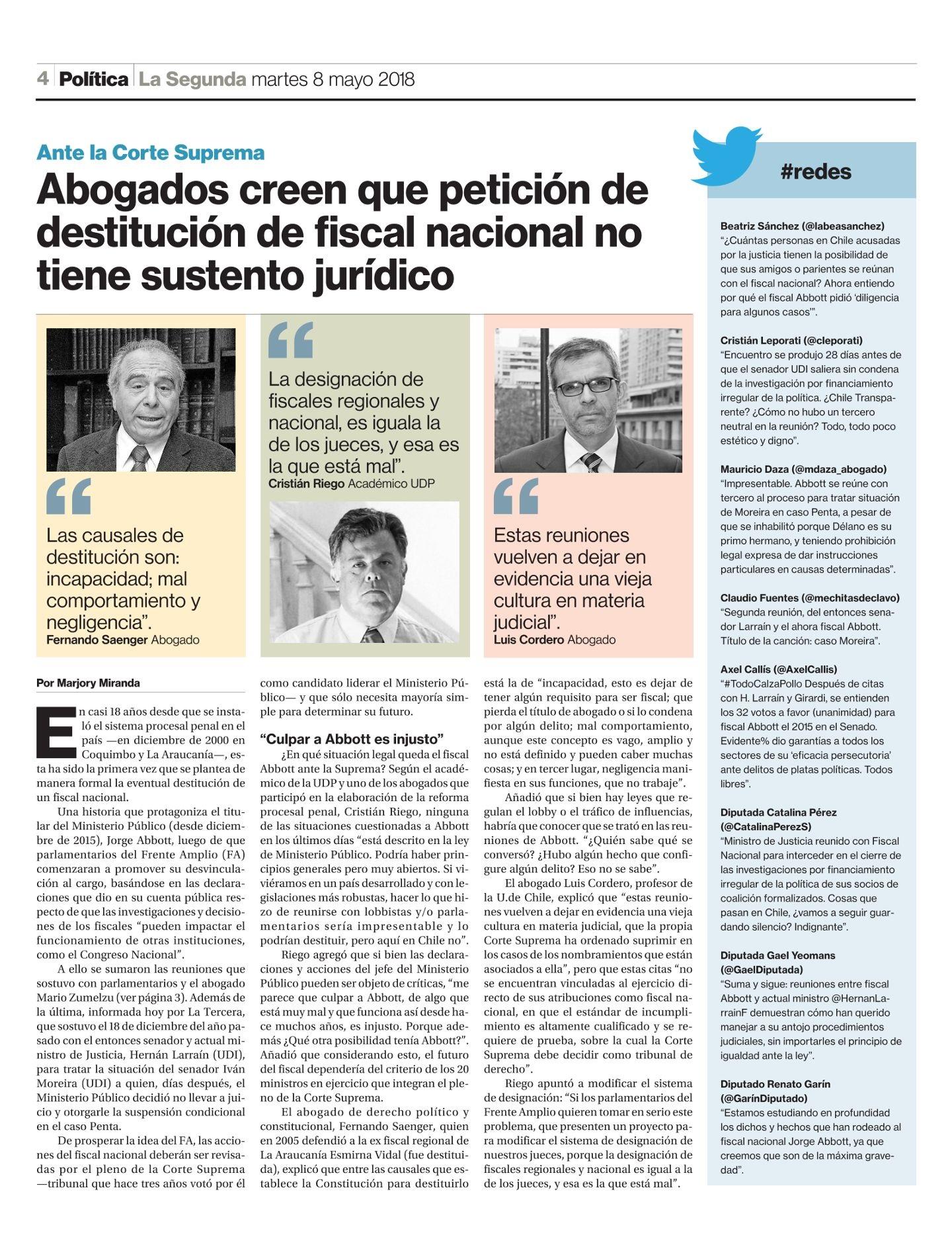 0805 - Destitucion Fiscal Nacional - La Segunda - Cristian Riego
